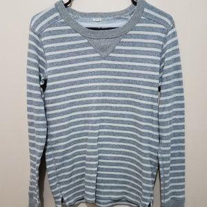 J. Crew COASTLINE-STRIPE PULLOVER Sweatshirt
